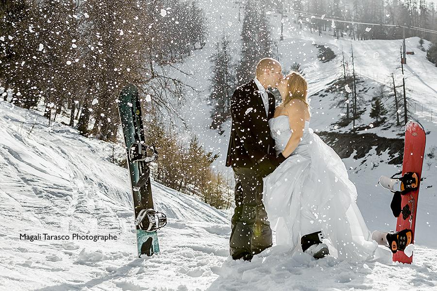 Trash the Dress à la neige