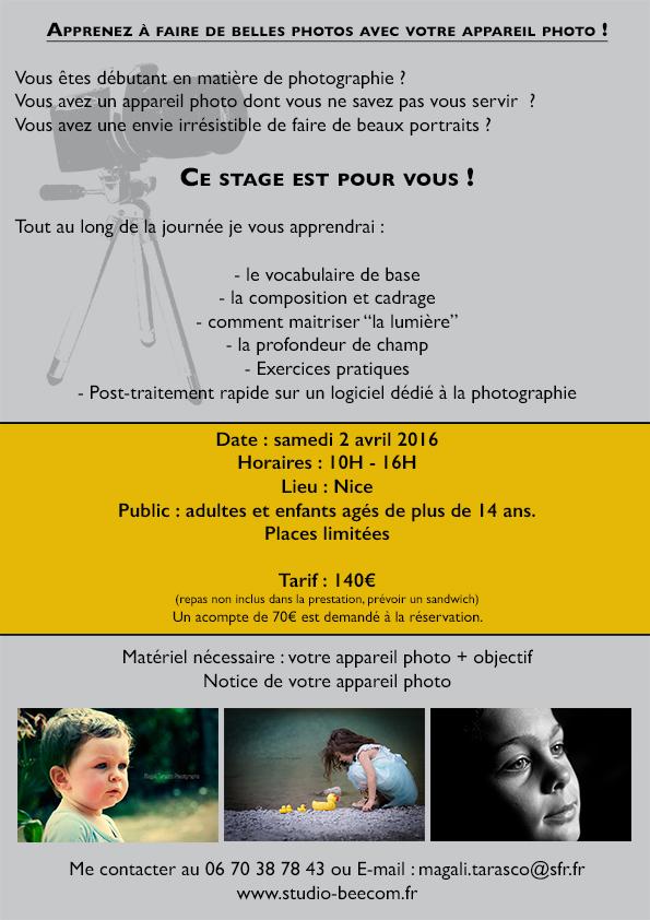 stage photo débutantweb
